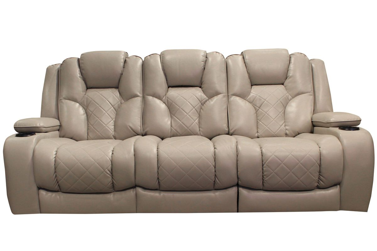 Turismo Power Reclining Sofa with Drop Down Table from Gardner-White Furniture