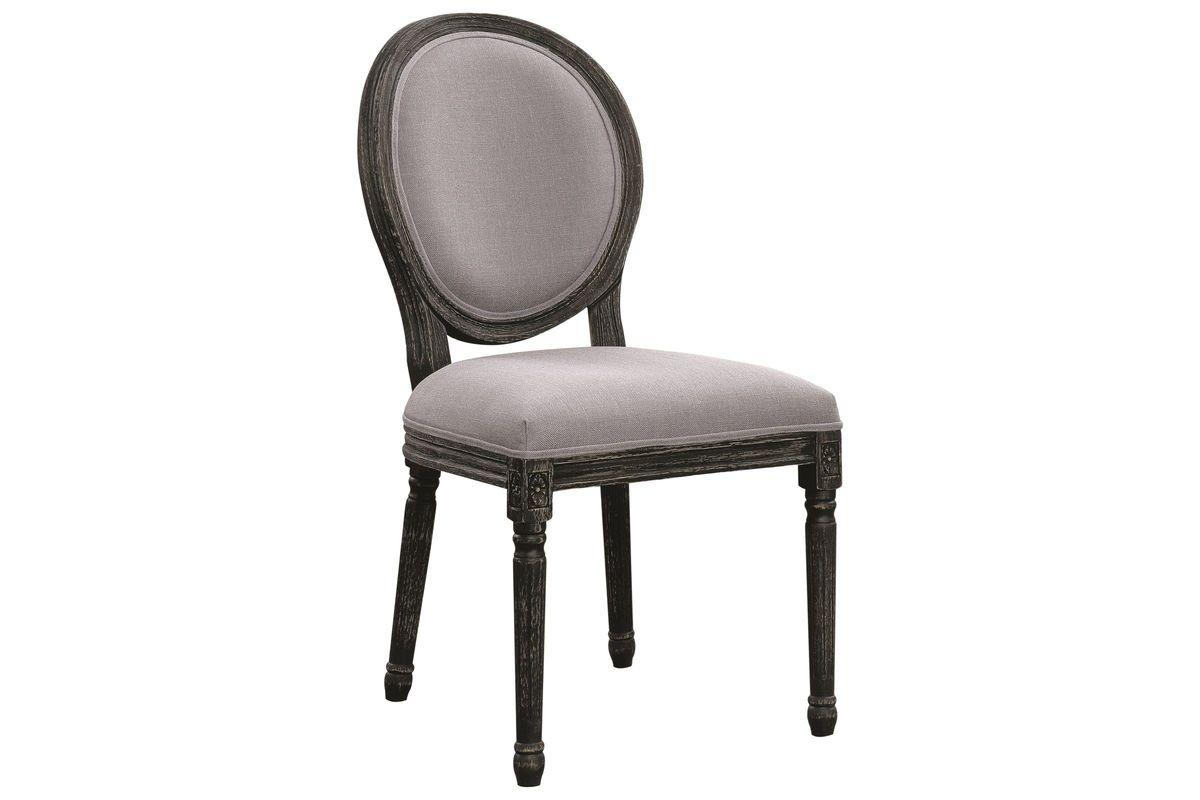 Scott living rochelle grey oval back dining chair set of 2 from gardner white furniture
