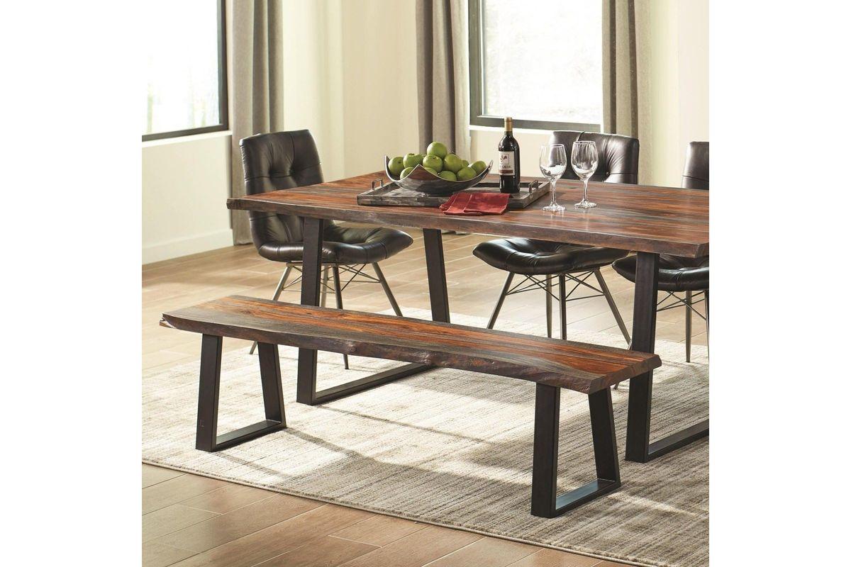 Scott Living Jamestown Rustic Live Edge Dining Bench from Gardner-White Furniture
