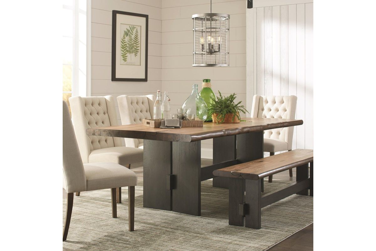 Scott Living Marquette Rustic Mahogany Dining Table From Gardner White  Furniture