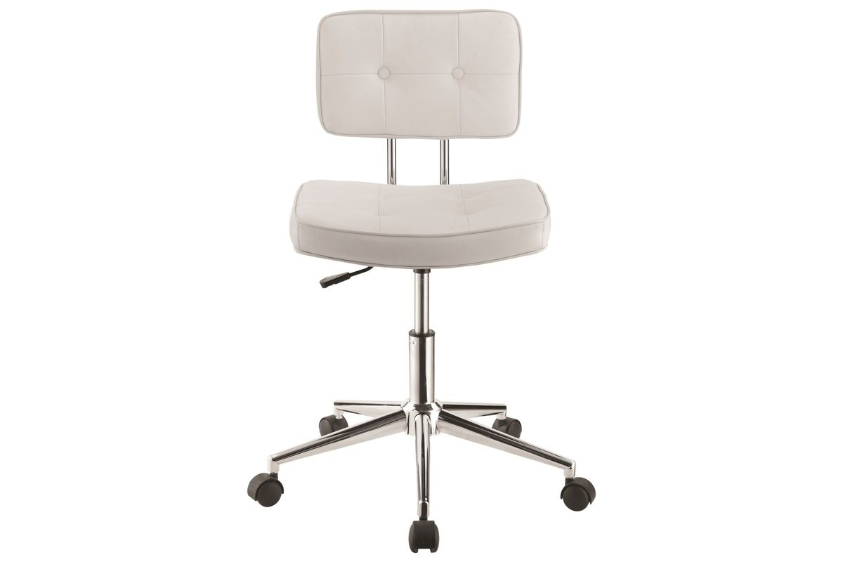Scott Living Modern White Armless Office Chair From Gardner Furniture