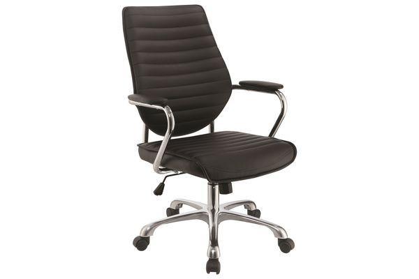 Scott Living Contemporary Black High Back Office Chair