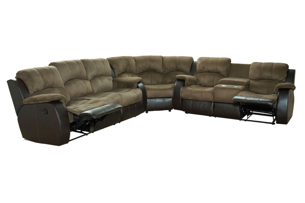 Lorenzo 3 Piece Mircofiber Reclining Sectional At Gardner White