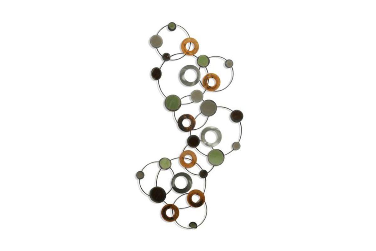 Circles Within Circles Metal Wall Art from Gardner-White Furniture
