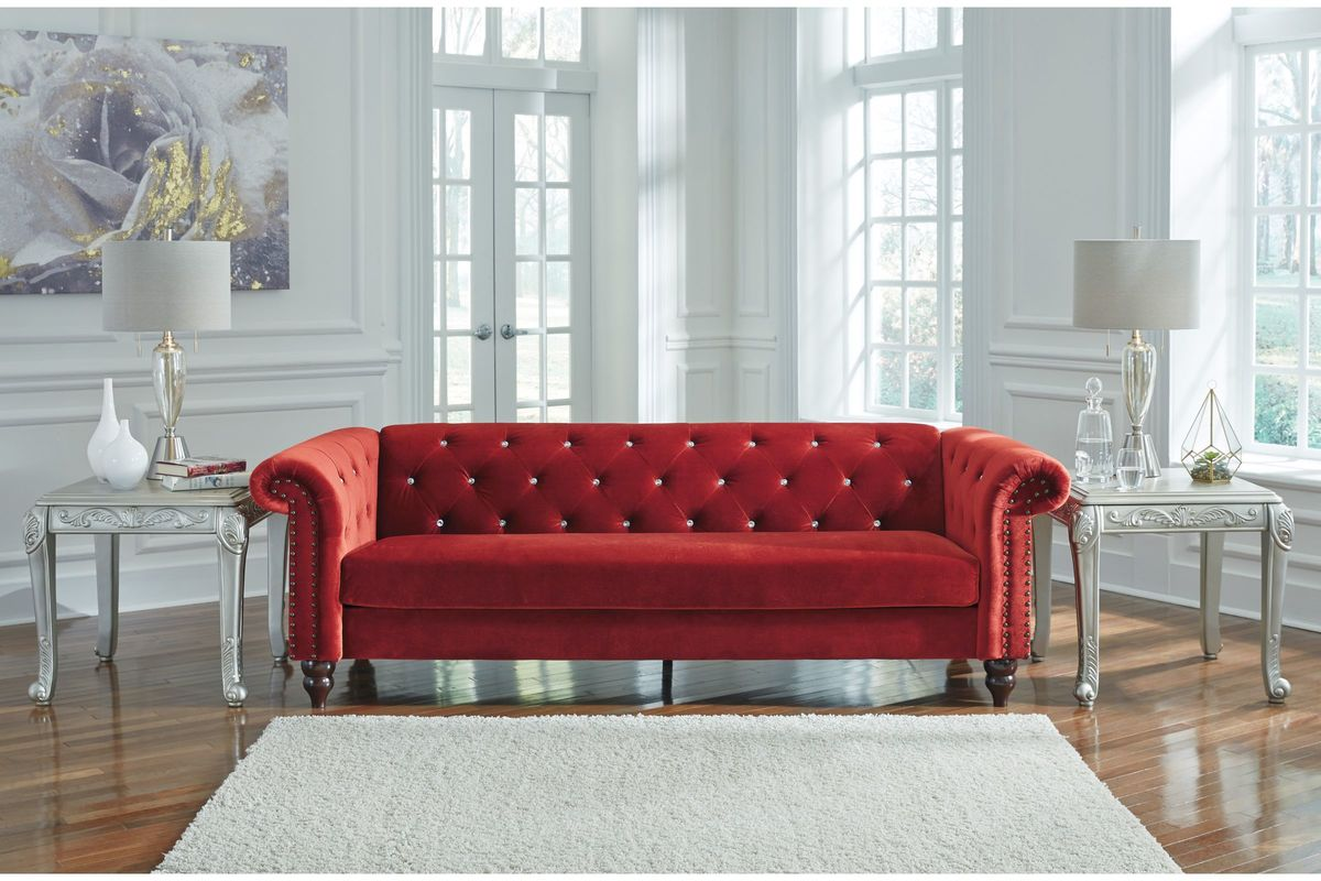 Malchin Red Sofa In A Box By Ashley At Gardner White