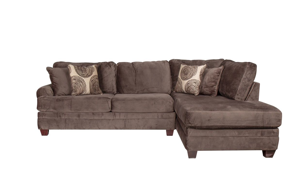 Channing Microfiber Sectional With Chaise On The Right From Gardner White Furniture