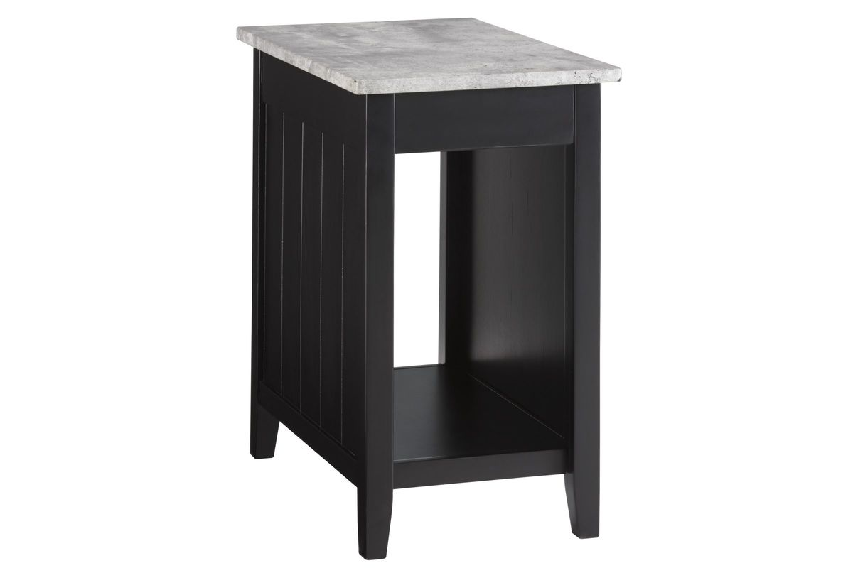 Diamenton Chair Side End Table in Black by Ashley from Gardner-White Furniture