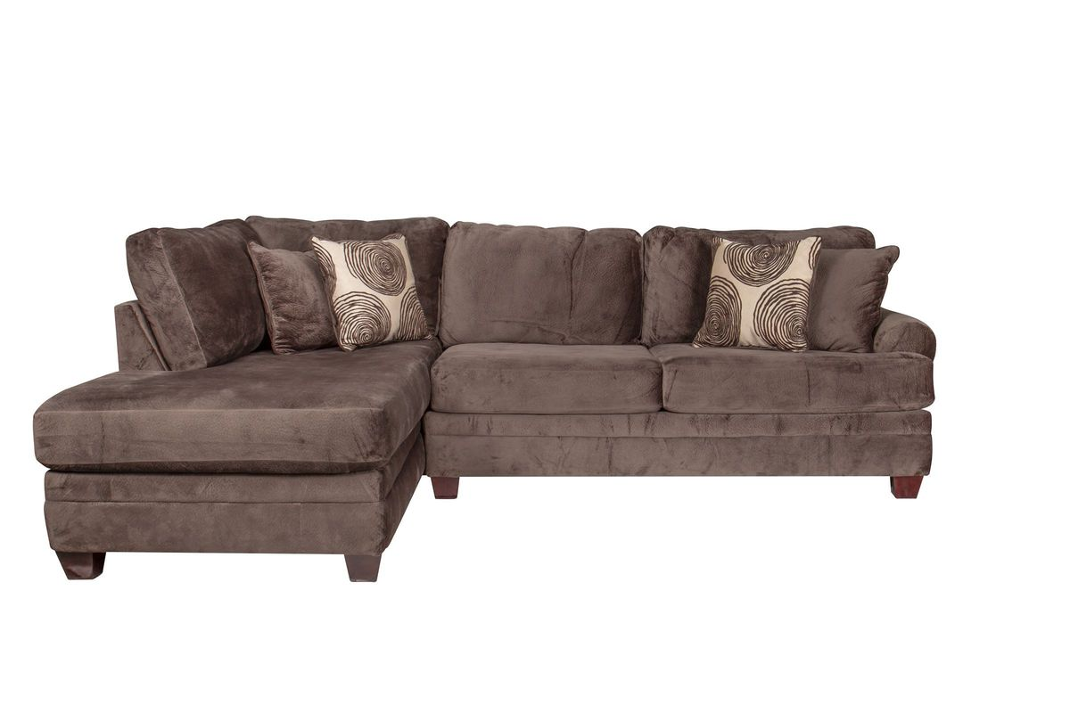 Channing Microfiber Sectional with Chaise on the Left from Gardner-White Furniture