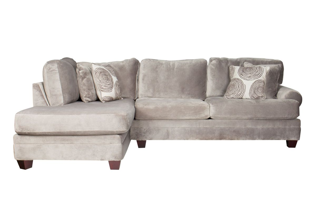 Tremendous Gaylord Microfiber Sectional With Chaise On The Left Ibusinesslaw Wood Chair Design Ideas Ibusinesslaworg