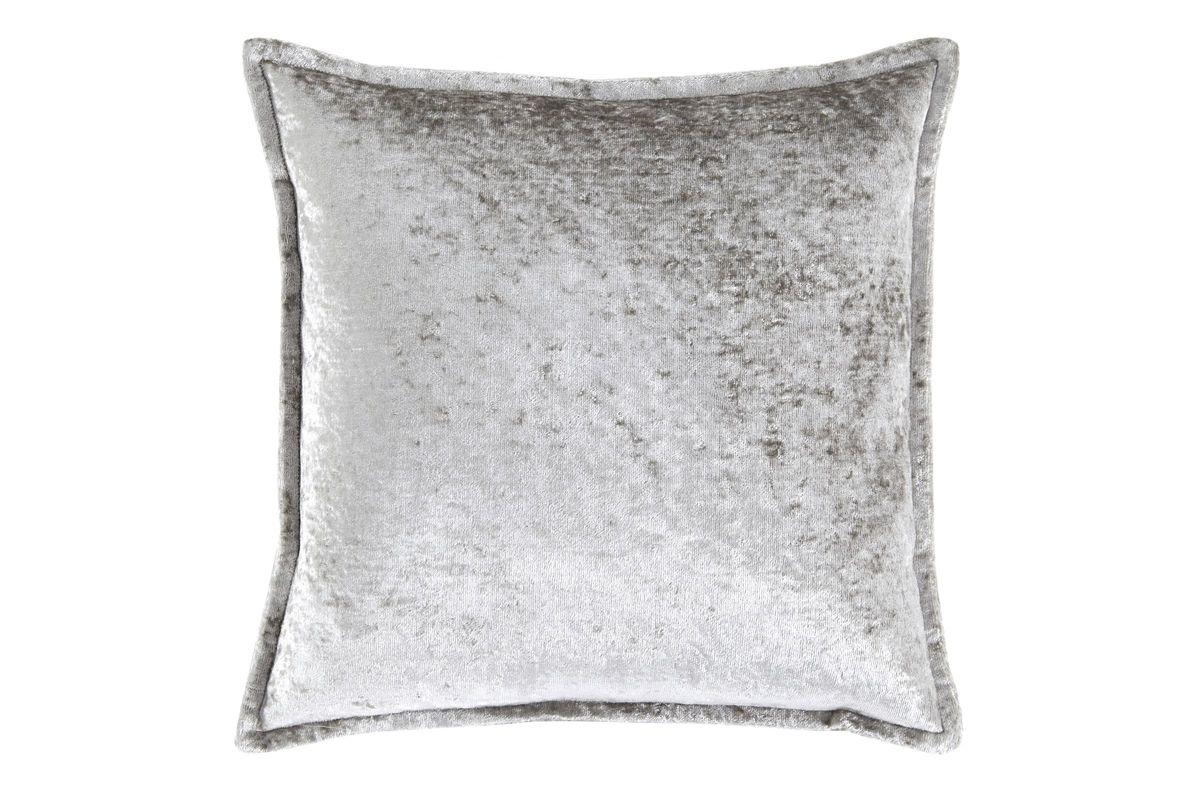 Melaney Silver Crushed Velvet Pillow by Ashley from Gardner-White Furniture