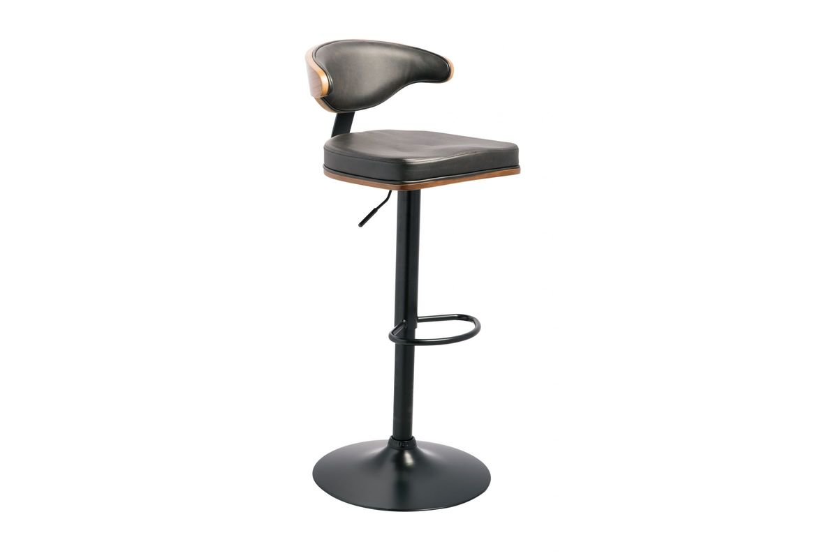 Surprising Bellatier Black Faux Leather Adjustable Swivel Barstool By Ashley Lamtechconsult Wood Chair Design Ideas Lamtechconsultcom