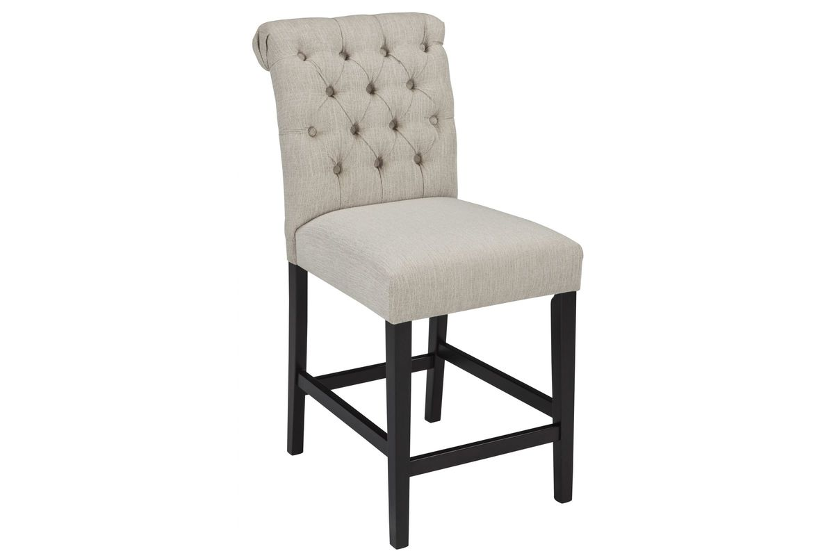 Pleasing Tripton Upholstered Barstools In Linen Set Of 2 By Ashley Alphanode Cool Chair Designs And Ideas Alphanodeonline