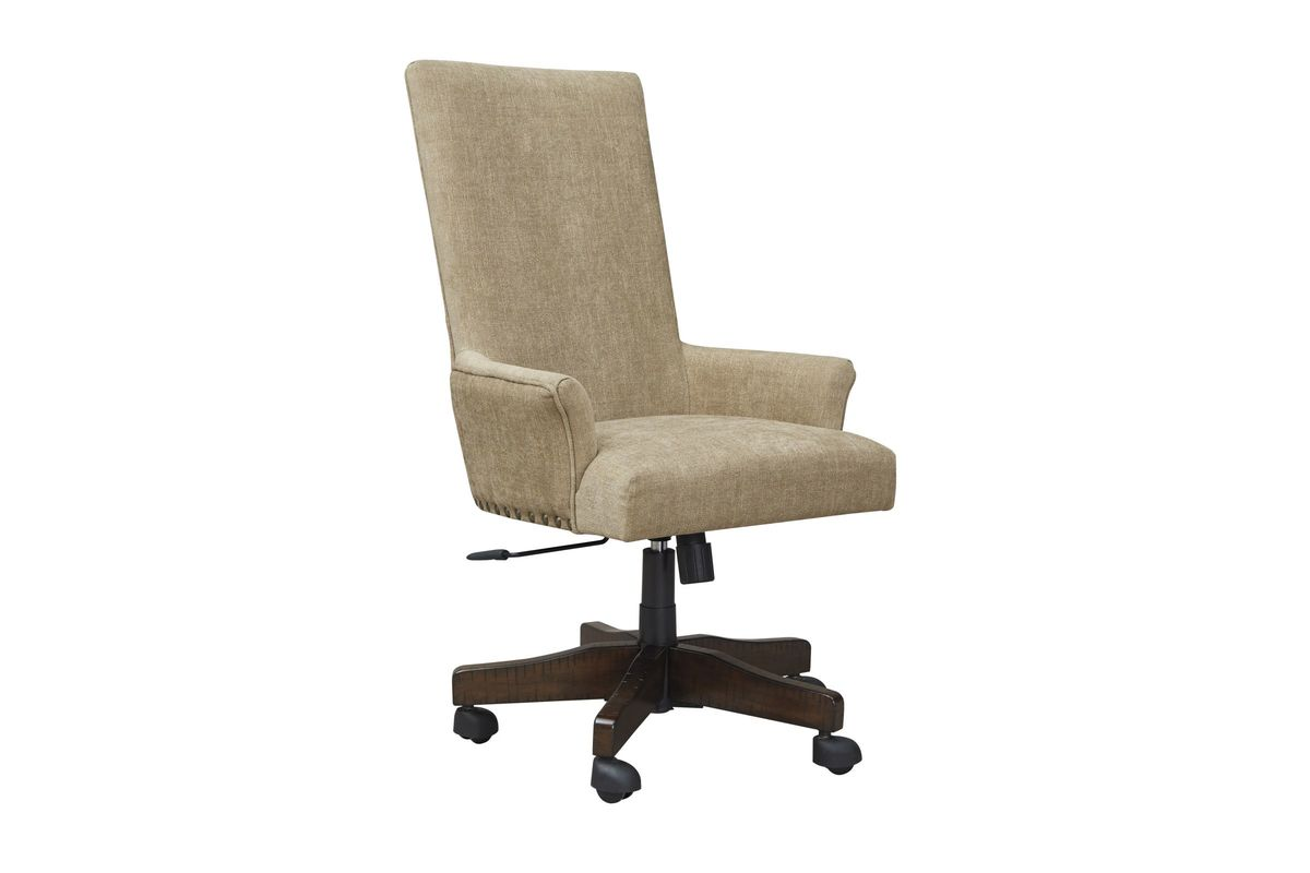 Wondrous Baldridge Upholstered Swivel Desk Chair By Ashley Caraccident5 Cool Chair Designs And Ideas Caraccident5Info