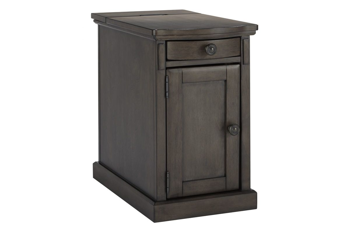 Laflorn Chair Side End Table in Grey by Ashley from Gardner-White Furniture