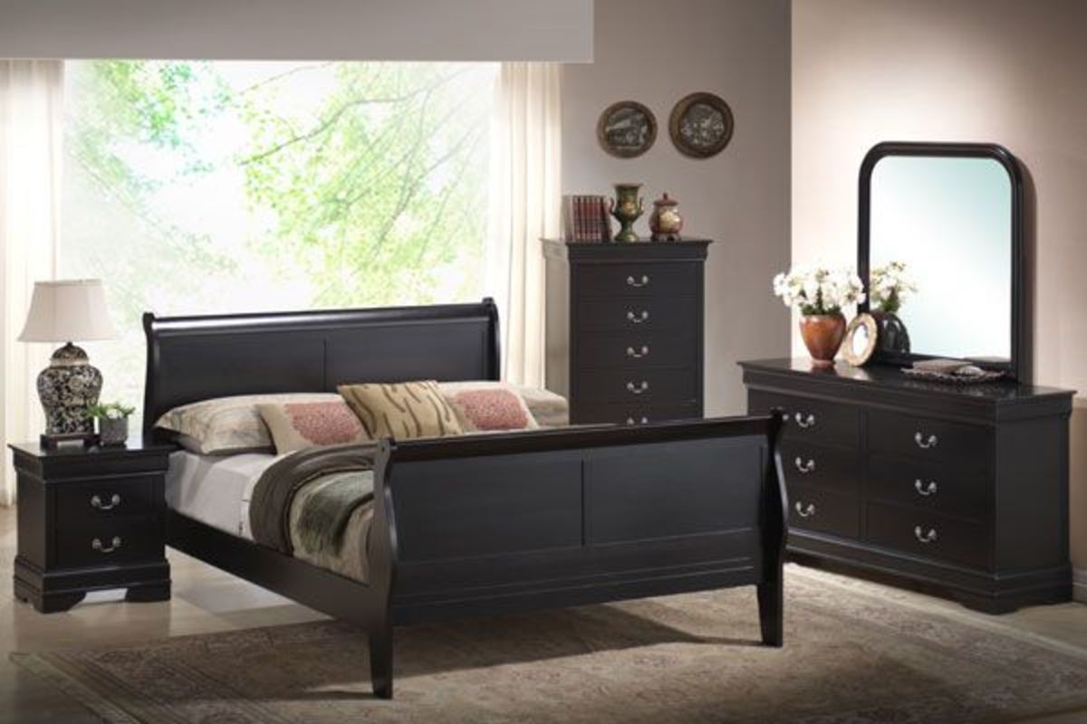 luigi 5 piece king bedroom set at gardner white. Black Bedroom Furniture Sets. Home Design Ideas