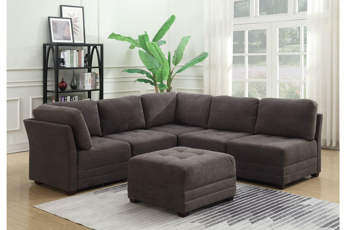 Incredible Miller 6 Piece Modular Sectional With Ottoman By Morrisofa Machost Co Dining Chair Design Ideas Machostcouk
