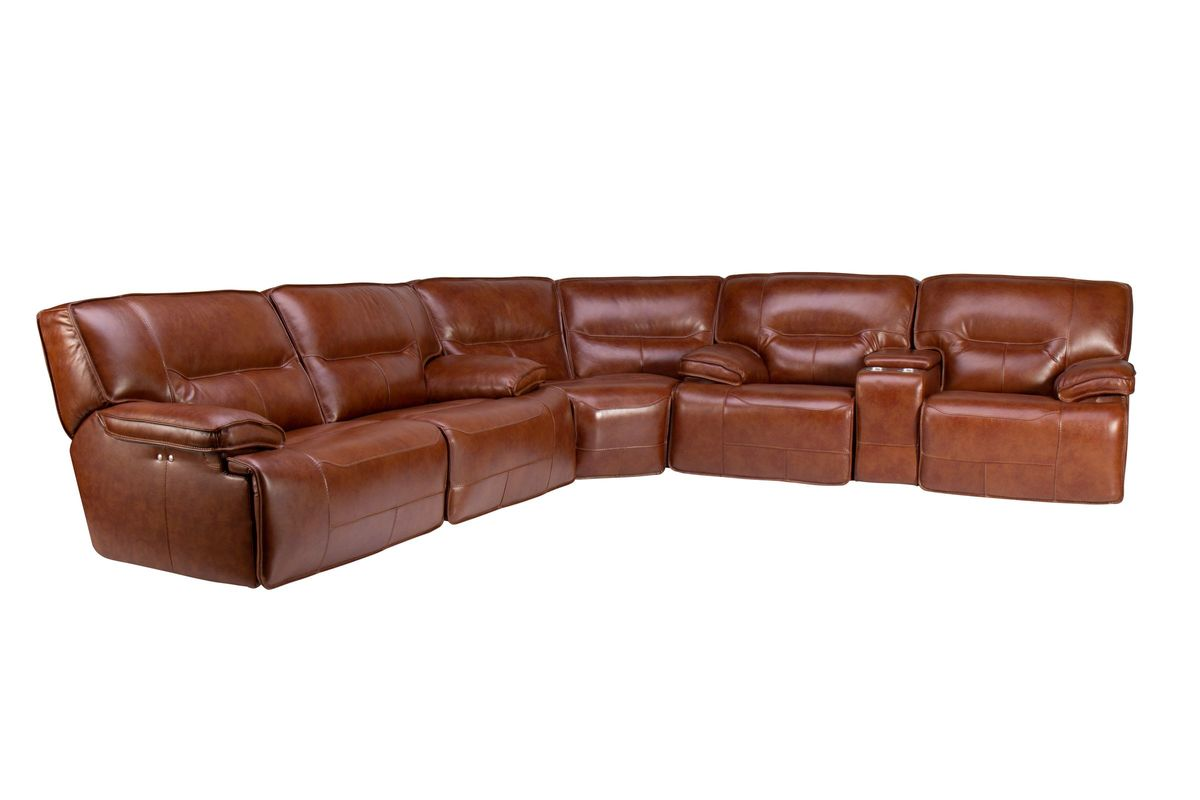Drake Leather Power Reclining Sectional from Gardner-White Furniture