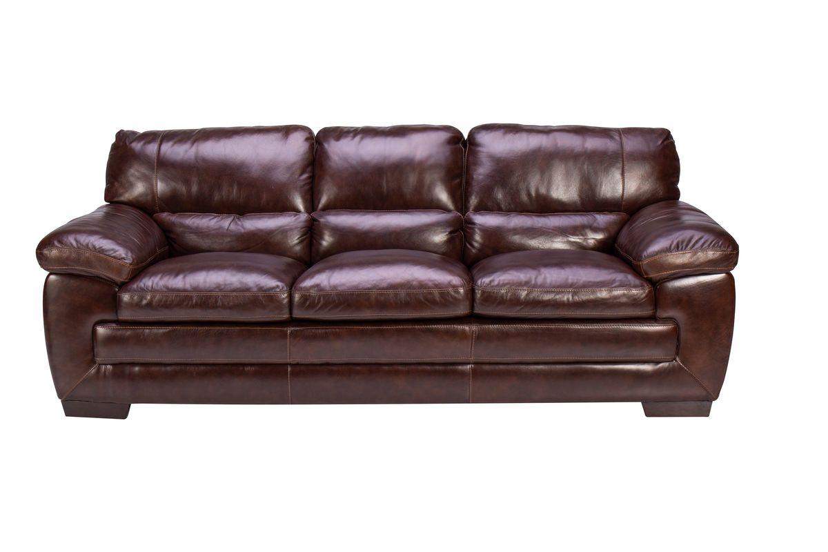 Spencer Leather Sofa from Gardner-White Furniture