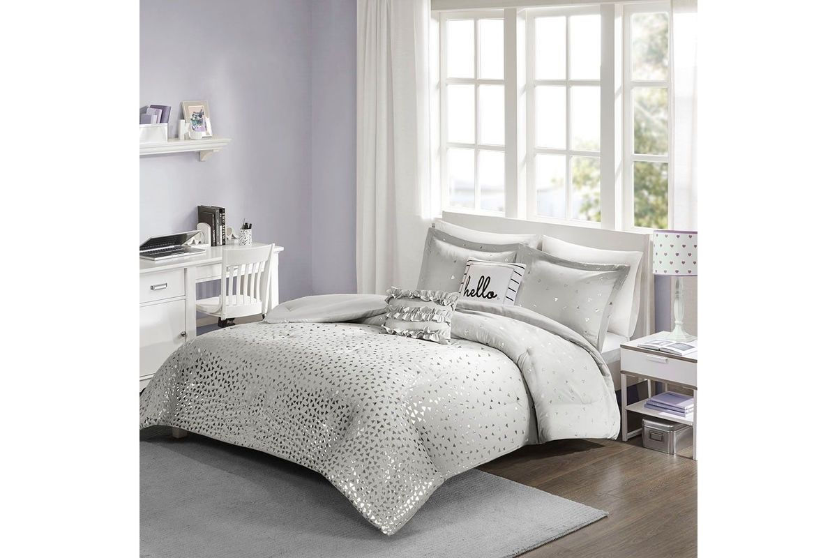 Zoey 4 piece twin comforter set from gardner white furniture