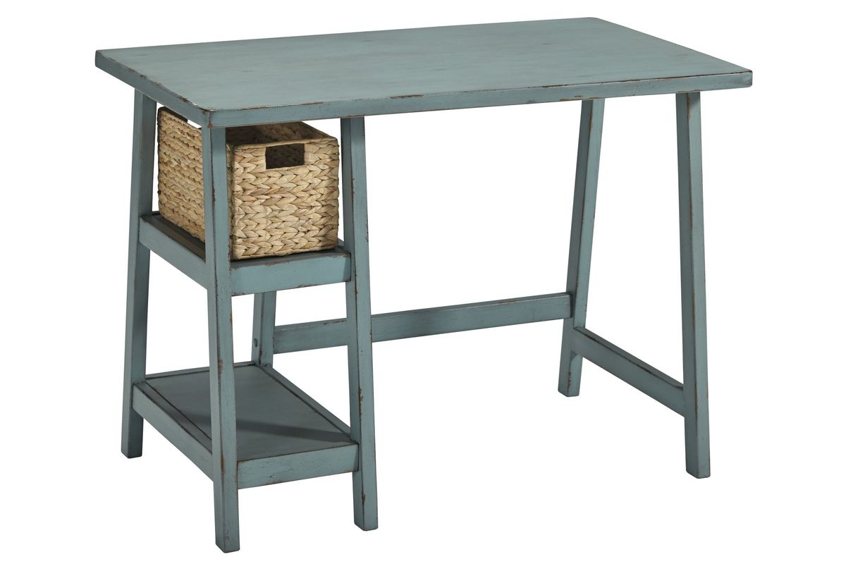Mirimyn Home Office Small Desk in Teal by Ashley from Gardner-White Furniture