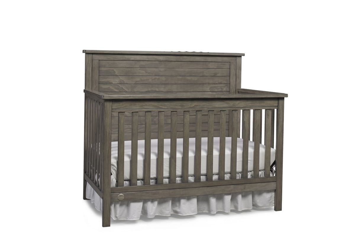 Fisher Price Quinn Convertible Crib In Vintage Grey By Bivona