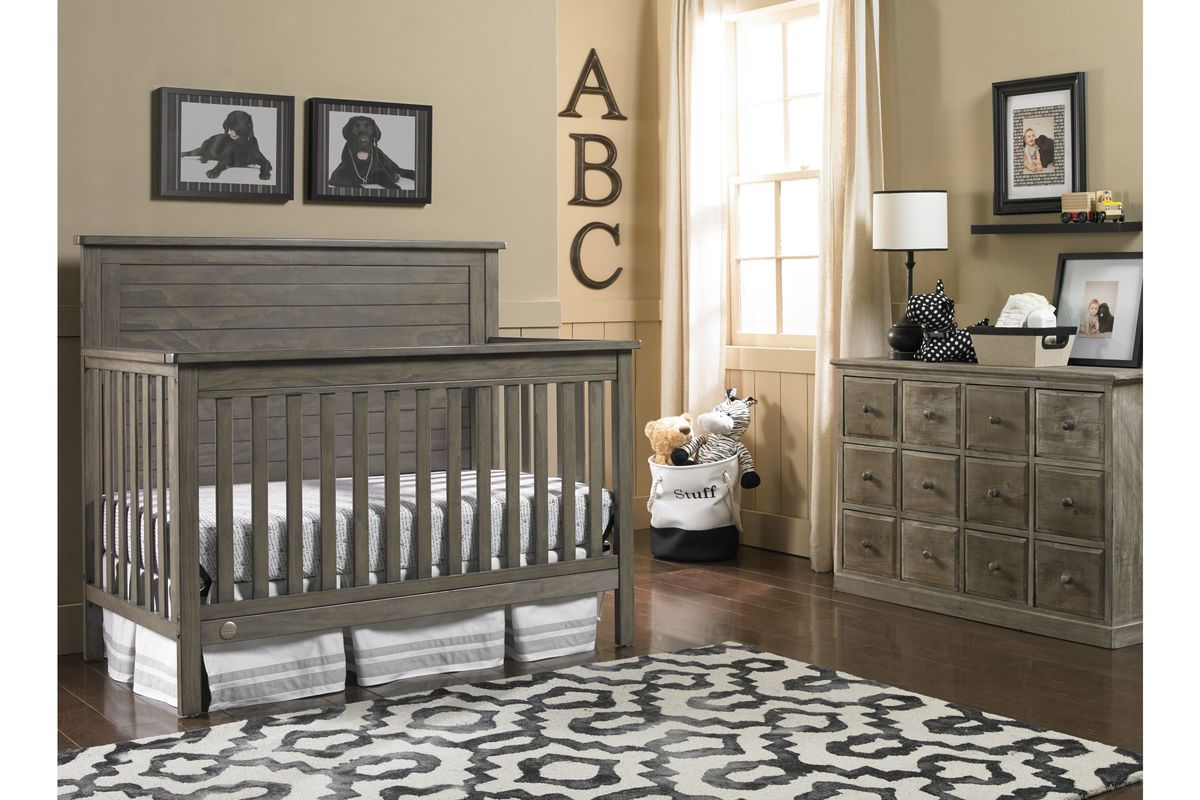 Fisher-Price Quinn Convertible Crib in Vintage Grey by Bivona