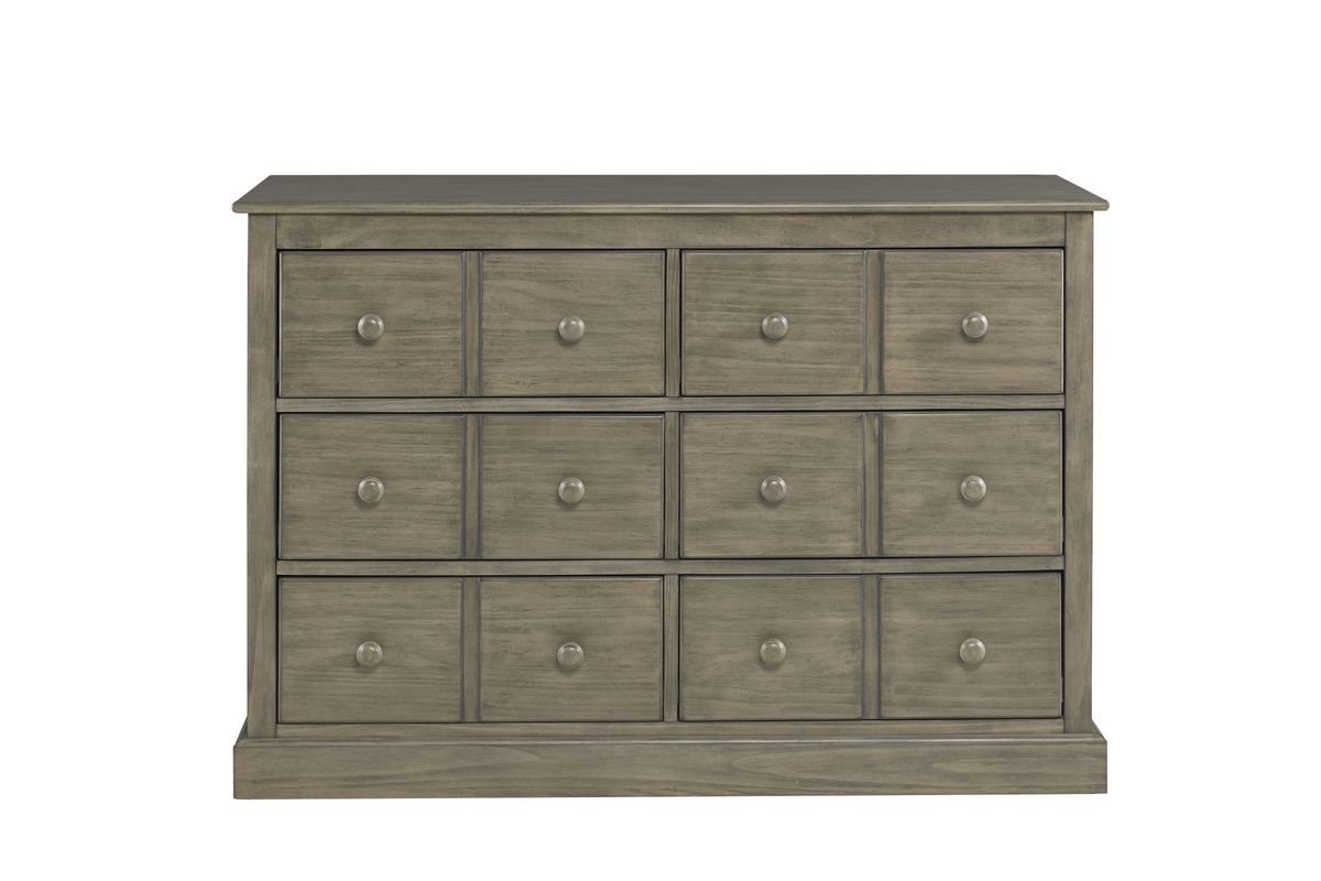Fisher-Price Faux Multi-Drawer Double Dresser in Vintage Grey by Bivona from Gardner-White Furniture