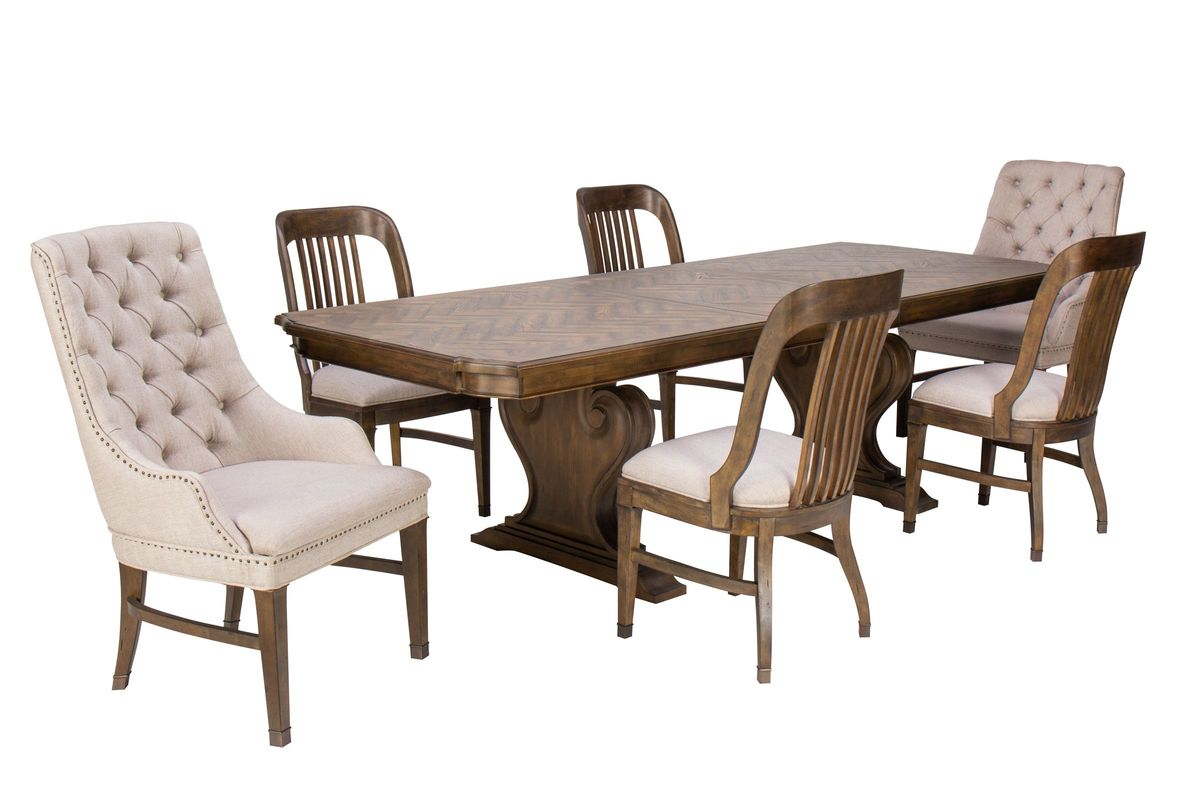 Jefferson Dining Table + 4 Chairs + 2 Host Chairs from Gardner-White Furniture