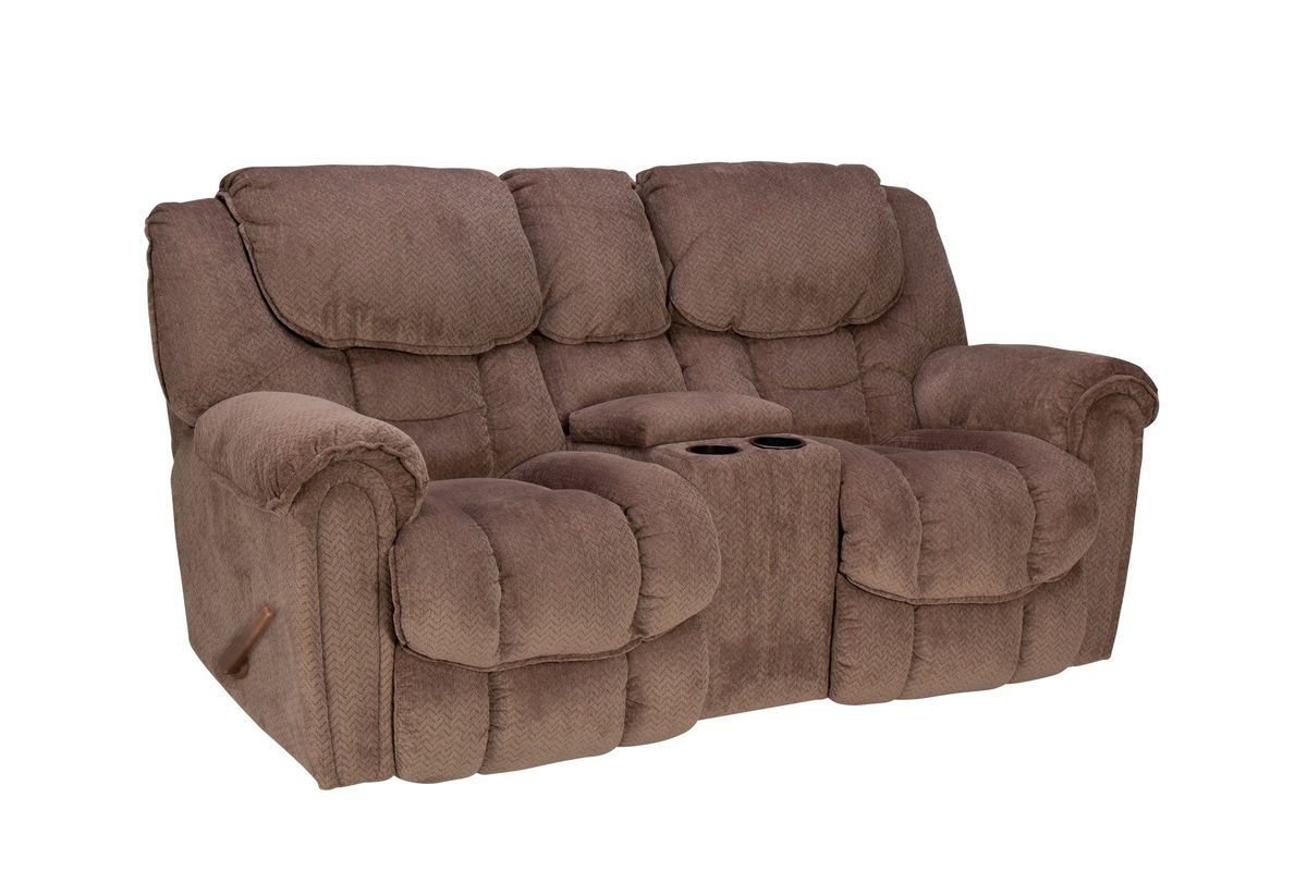 Emery Manual Rocking Reclining Loveseat With Console At