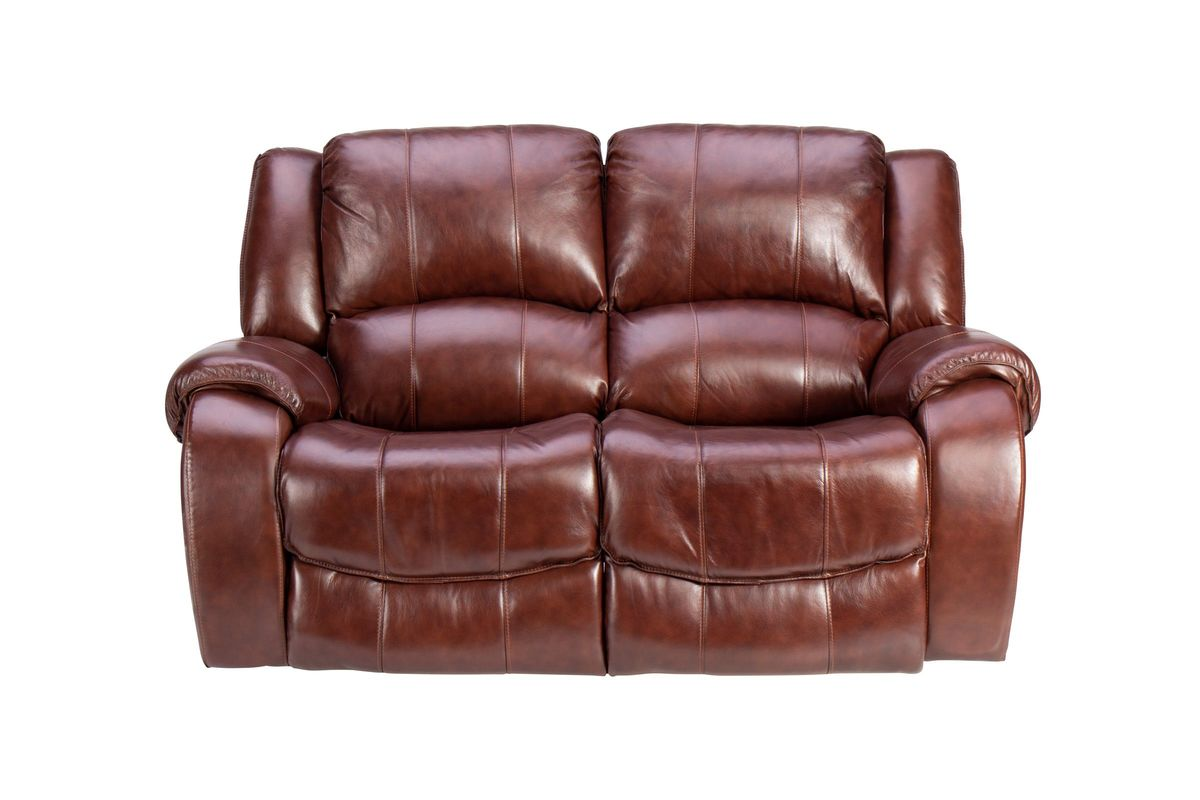 Meadow Leather Power Reclining Loveseat from Gardner-White Furniture