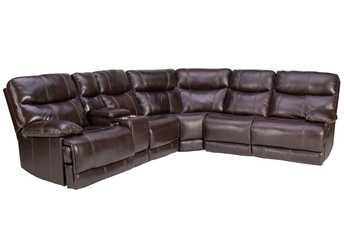 f2aaa622870418 Jaguar Leather Reclining Sectional from Gardner-White Furniture