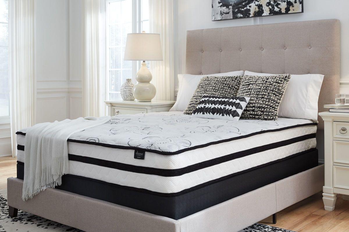 Sierra Sleep 174 Chime 10 Inch Hybrid Queen Bed In A Box By Ashley