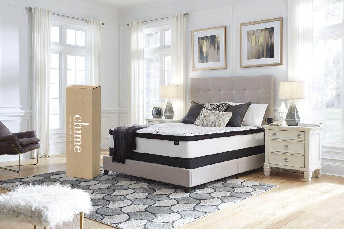 Sierra Sleep 174 Chime 12 Inch Hybrid Queen Bed In A Box By Ashley