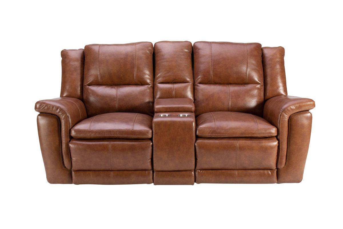 Kerrville Leather Power Reclining Loveseat from Gardner-White Furniture