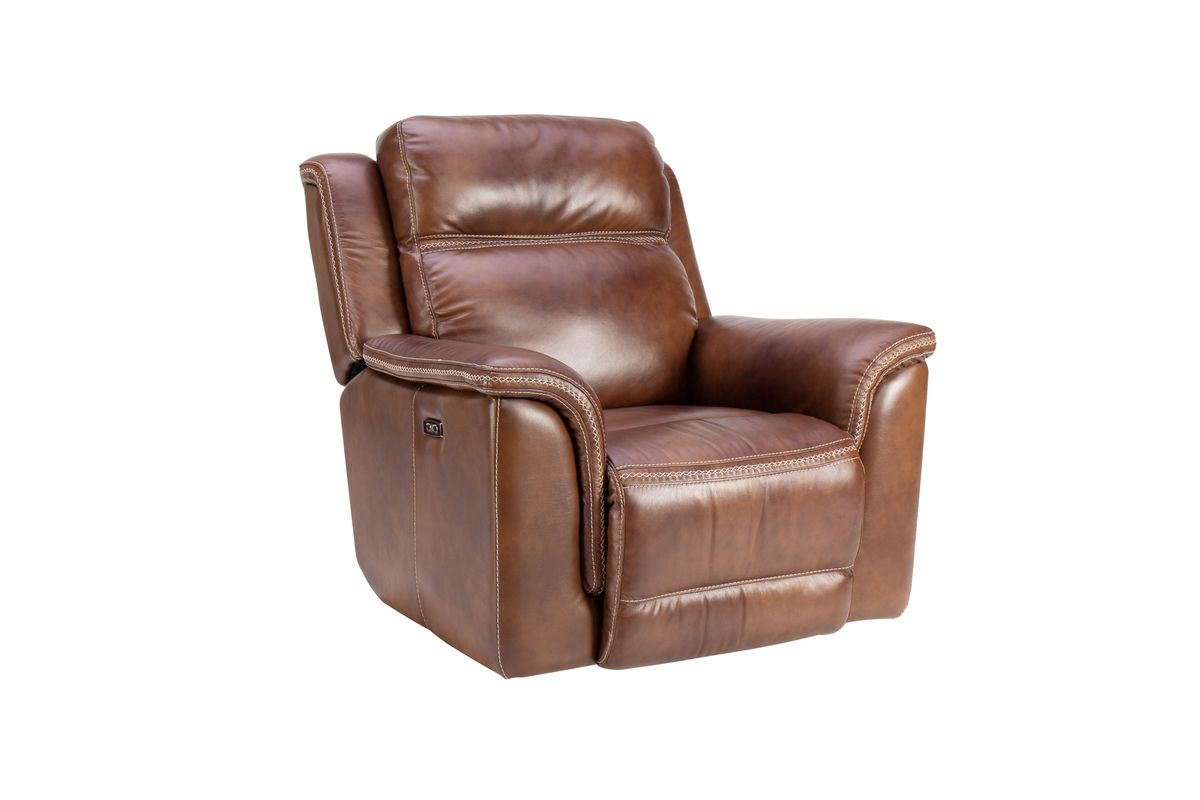 Sensational Fargo Leather Power Recliner Pabps2019 Chair Design Images Pabps2019Com