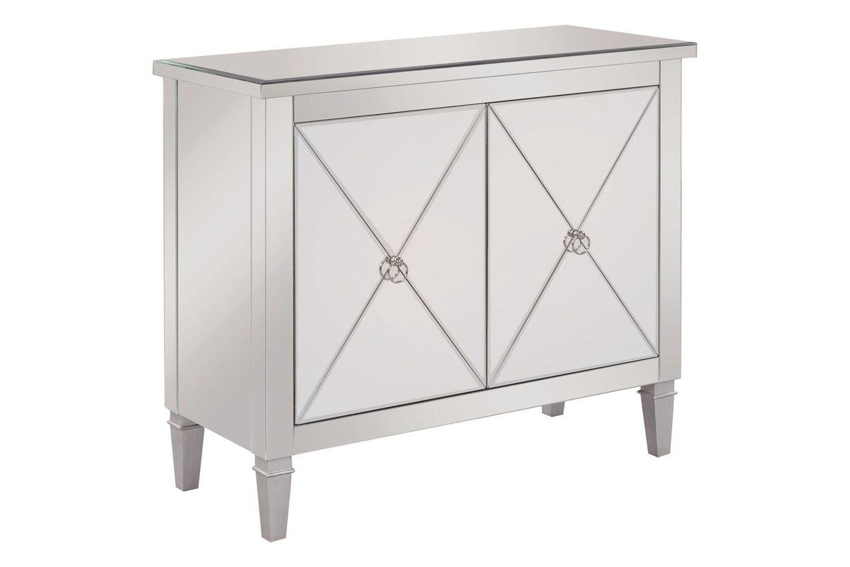 Scott Living Contemporary Mirrored 2 Door Accent Cabinet From Gardner White Furniture
