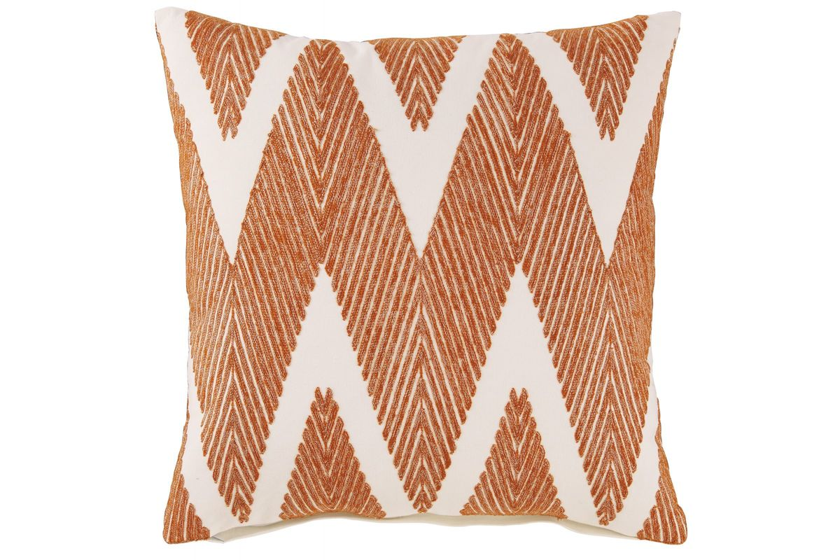 Carlina Pillow in Orange by Ashley from Gardner-White Furniture