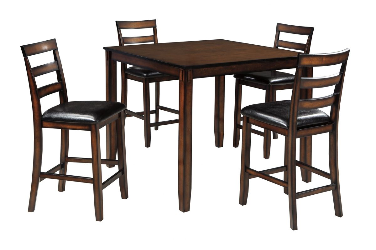 Coviar 5 Piece Counter Height Dining Set by Ashley from Gardner-White Furniture