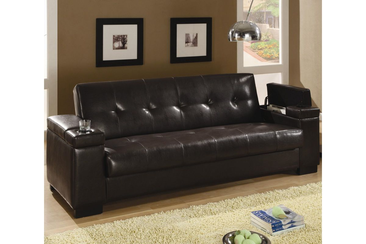 Faux Leather Convertible Sofa Bed At Gardner-White