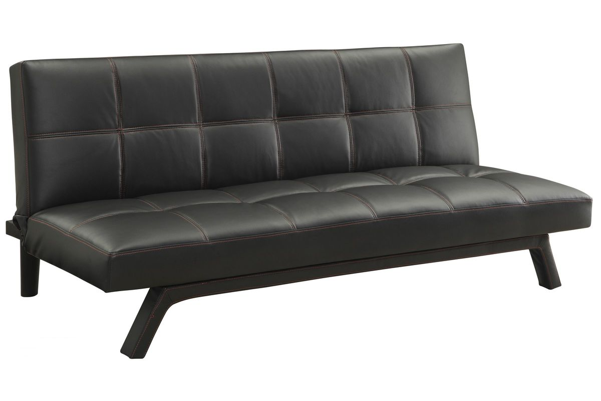 Contemporary Black Convertible Sofa Bed at Gardner-White