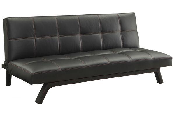 Contemporary Black Convertible Sofa Bed