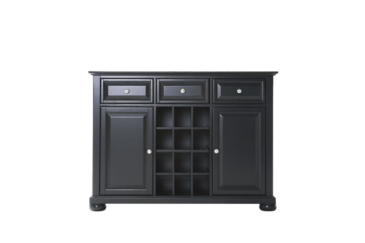 Alexandria Buffet Server / Sideboard Cabinet with Wine Storage in Black by Crosley from Gardner-  sc 1 st  Gardner-White Furniture & Alexandria Buffet Server / Sideboard Cabinet with Wine Storage in ...