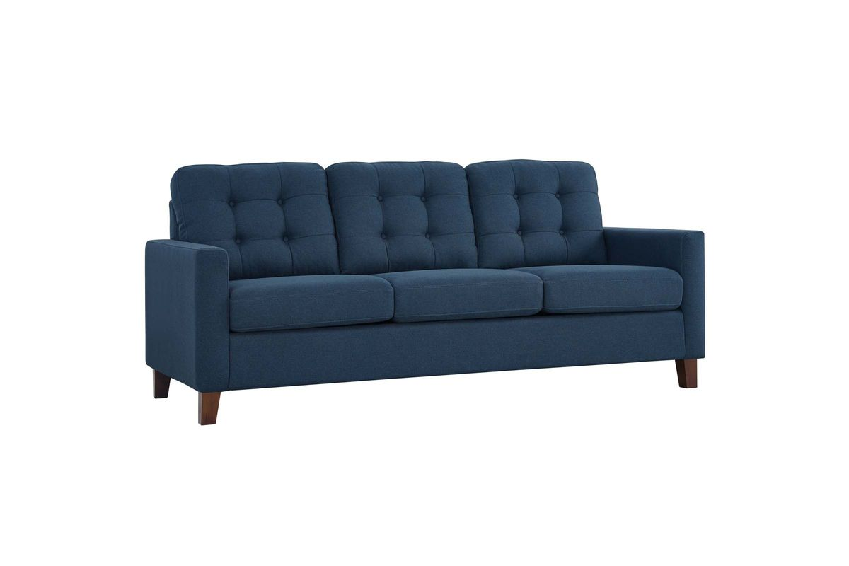 Alcove Sleeper Sofa In Navy By Modway