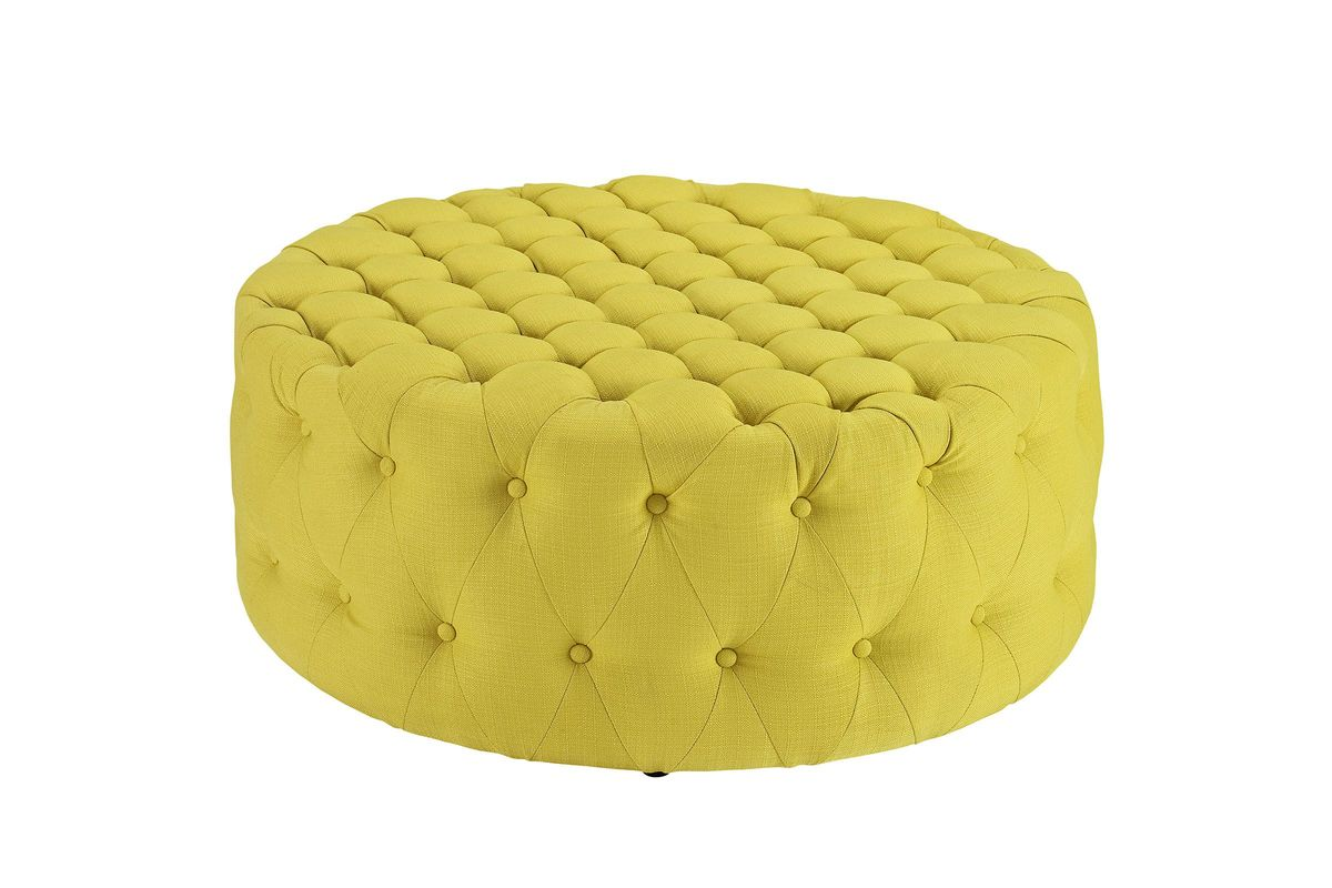 Fantastic Amour Ottoman In Sunny Yellow By Modway Spiritservingveterans Wood Chair Design Ideas Spiritservingveteransorg