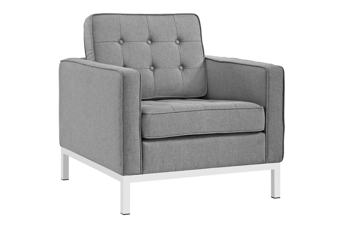 Mc Upholstered Armchair Traditional Transitional Mid Century