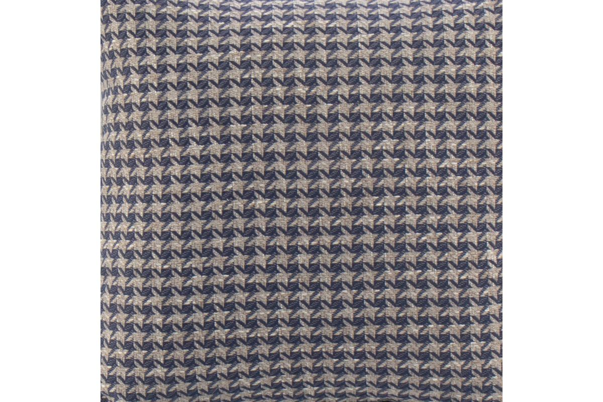 Blue & Grey Houndstooth Toss Pillow from Gardner-White Furniture