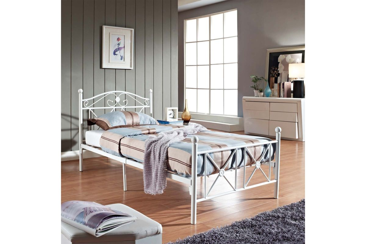 Powell White Twin Bedroom In A Box: Cottage Twin Bed By Modway At Gardner-White