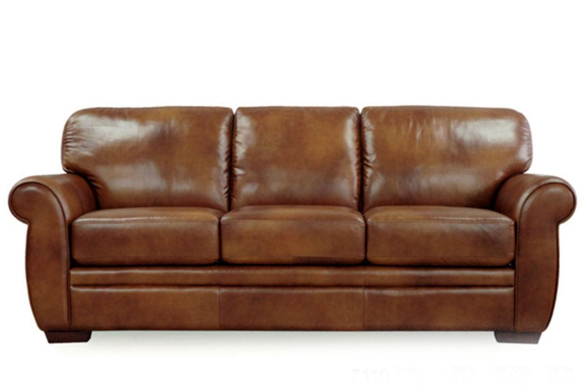 Chestnut Leather Sofa From Gardner White Furniture