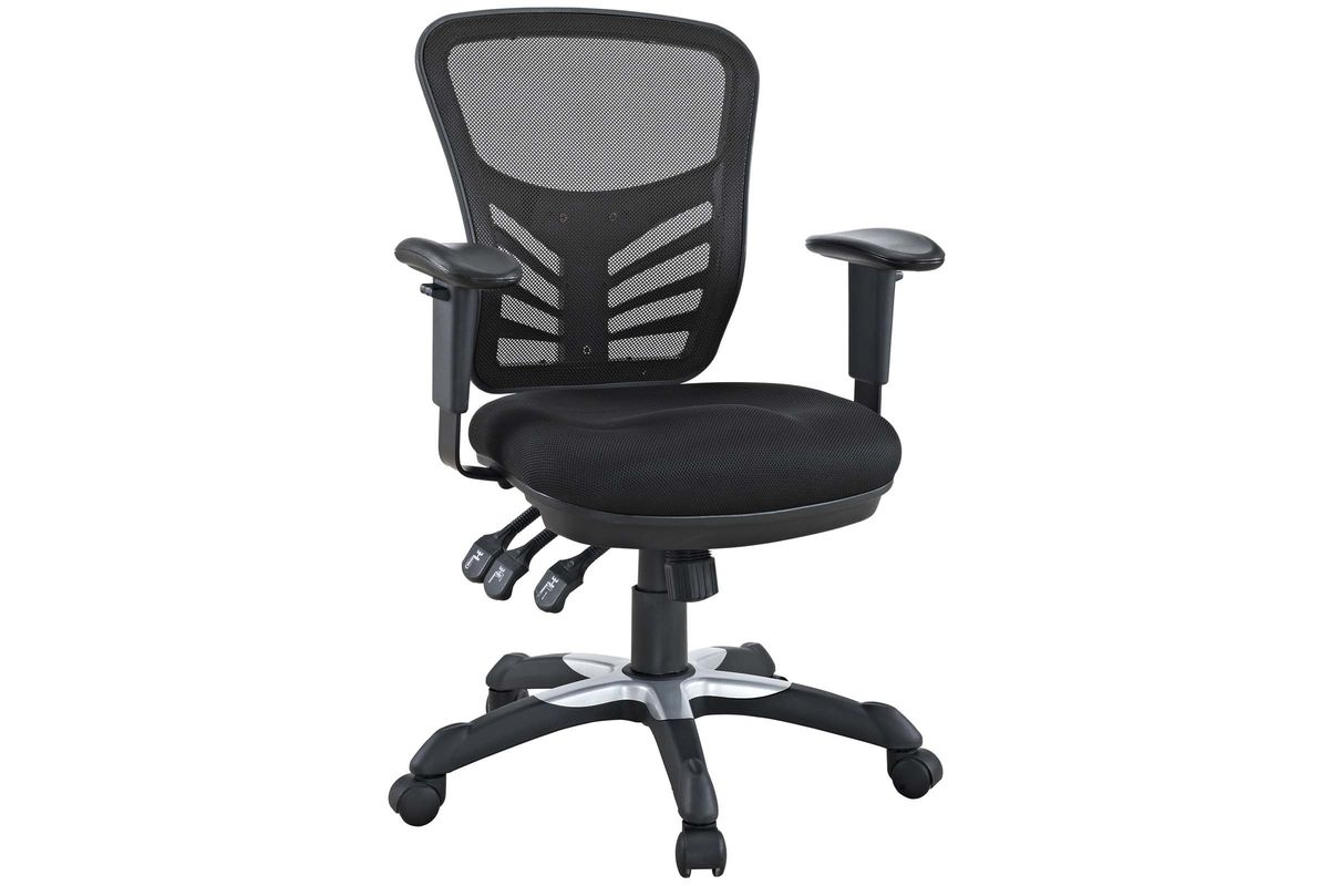 Articulate Mesh Office Chair in Black by Modway from Gardner-White Furniture