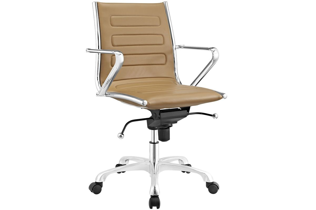 Ascend Mid Back Office Chair in Tan by Modway from Gardner-White Furniture